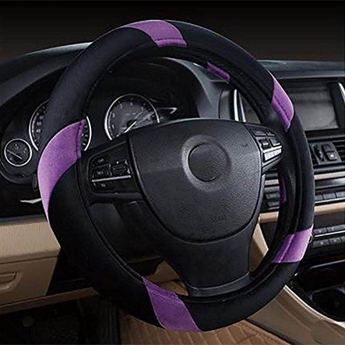 DSORL Couvre-Volant de Voiture Laine 36-38cm Couverture, Purple