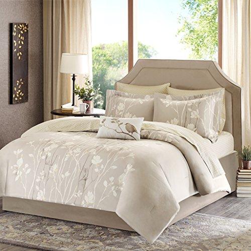 Madison Park Essentials Vaughn komplett Bett und-Bettlaken-Set, taupe, King