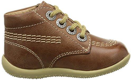 Kickers Billy, Chaussures hautes Bébé marche mixte bébé Marron (Camel)