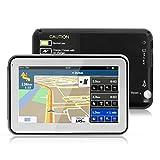 4.3' GPS Auto-navigation de Voiture Moto 8GB, NickSea MTK 2531 Appareil de Navigation Écran Tactile, Intégrer le Système des Instructions Vocales Multi-languages (Gratuits Cartographie d'Europe Mode Pré installé)