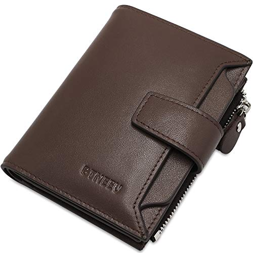 a8c85cccf 7, Cartera Hombre Cuero RFID Bloqueo BTNEEU Billetera Piel Hombre con  Bolsillo de Moneda, Carteras Hombre