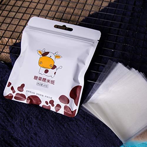 Preisvergleich Produktbild LouiseEvel215 500 Blatt Nougat Geschenkpapier Essbare Klebreis Papier Backen Süßigkeiten Papier Candy Wrapper Transparentpapier