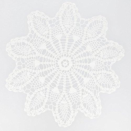 Inconnu Deckchen gehäkelte Spitze Ananas 29 cm weiß x1 (Gehäkelte Ananas)