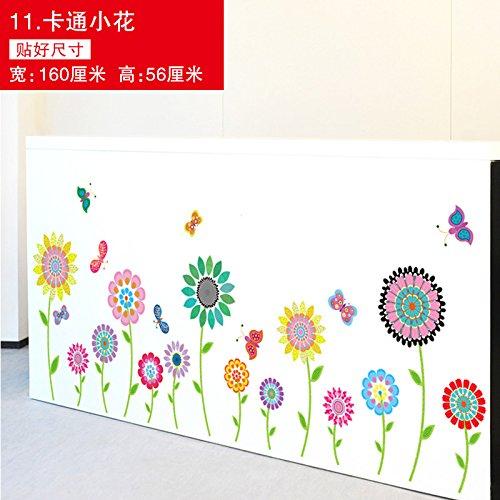 (SMNCNL Kindergarten Klassenzimmer Wandverkleidungen Fußleisten Fuß der Wand Aufkleber für Kinder Zimmer Schlafzimmer mit möblierten Mount sunflower Poster, dass kleine Cartoon Muster Fries)