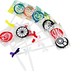 Idea Regalo - Preservativo Creative Lollipop frutta sapore Advanced lattice preservativo Funny Game Gift 40 confezione