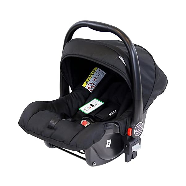 iSafe Marvel 3 in 1 Travel System with Car Seat & Carrycot & Luxury Changing Bag (Black Pearl) iSafe Complete With Free Carseat & Carrycot & Luxury Changing Bag Complete With Free Stroller Raincover Complete With Free Stroller Boot Cover 7
