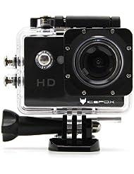 icefox® Cámara Deportiva FHD,Cámara HD 12MP 1080P Sumergible con Gran Angular 170°,Batería 900mAh,y Kit de Accesorios para Buceo,Ciclismo, Moto,y Natación (Negra)
