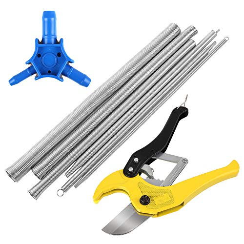 FIXKIT Profi Rohrschere set, Durchmesser bis 42 mm, inkl 6PCS Biegefeder und 1PCS Kalibrierer, für PEX PE Verbundrohr, PVC Rohre -