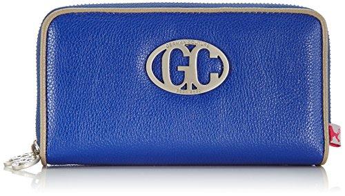 Poodlebag Unisex-Erwachsene German Couture-Cash Big Münzbörsen, Blau (blue/stone), 18x3x11 cm