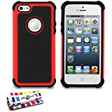 MUZZANO Coque Semi-Rigide Ultra-Slim - Sport Case - Rouge pour APPLE IPHONE 5S / IPHONE SE