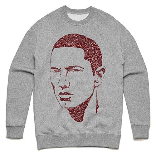 Eminem lyric face Unisex Sweater Grau
