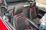 Custom Fit Set Sitzbezüge MX-5 NB FL seit 2001 bis 2005, Eco Leder beige. Hergestellt in Italien