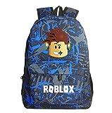 Lelestar Kids Backpack Luminous Daypack-Roblox School Bookbag Laptop Backpacks for Boys Girls Kids Teenagers Game Fans Gift