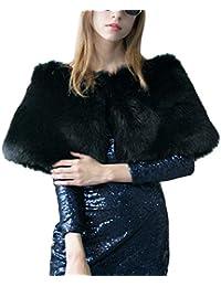 BIRAN Mujer Chal De Piel Fashion Hermoso Otoño Invierno Sintético Piel Elegantes Chal Bastante Fiesta Party