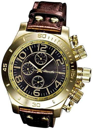 Sarastro Herren Leder Anzug Uhr Armband braun Multifunktion Ziffernblatt blau Tag Datum Sarastro AQ101141G