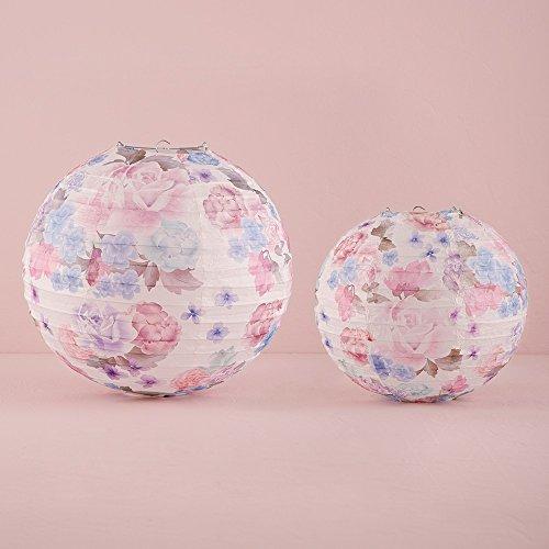 Papier Laterne 'Vintage Rosen', Größe:groß - 3