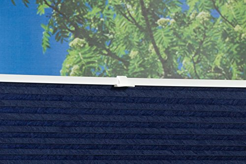 K-home Klemmfix-Plissee Palma Blau 70 x 130 cm (B x L) Lichtschutz +++ Moderne Crushed Optik +++ - 6