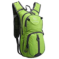 Local Lion 20L Breathable Shoulder Backpack Lightweight for Outdoor Sports Cycling Bike Riding Travel Mountaineering Hydration Waterproof Bag Unisex Green