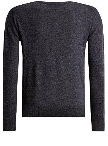 oodji Ultra Herren Basic Pullover aus Merinowolle Grau (2500M)