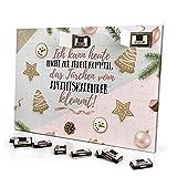 printplanet - Adventskalender Ich kann Heute Nicht zur Arbeit kommen, Das Türchen klemmt. - mit Schokolade - Design Weihnachtskalender, Schoko-Adventskalender mit Spruch