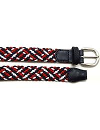 VAELLO - Cinturón trenzado elástico con puntera piel, para infantil, para infantil