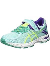 Asics GT 1000 4 PS - Zapatillas de running para niño, color rosa / verde / azul, talla 27