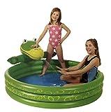 Kinder Planschbecken mit Spritzkopf | Verschiedene Modelle | ca. Ø 150 cm | 4 Luftkammern | Robuste Qualitätsfolie (Krokodil)