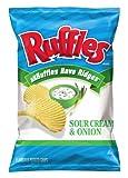 Ruffles Potato Chips, Sour Cream and Onion, 8.5 Ounce by Ruffles