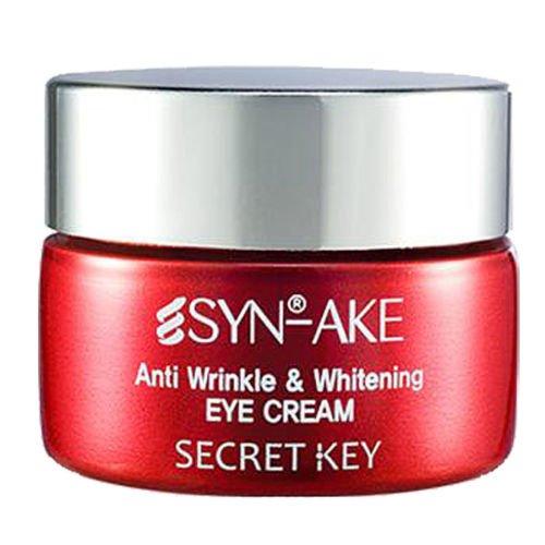 Secret Key - Syn Ake Eye Cream - Anti Aging Augencreme für trockene, fettige und normale Haut / Mischhaut mit Peptiden und Kaviar gegen Augenringe und Falten für Frauen und Männer - Whitening Cream - Antifalten Gesichtspflege - Gele - Nachtpflege - Tagespflege