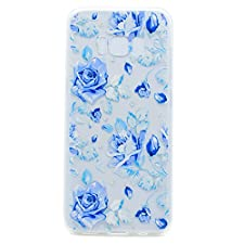Cozy Hut Samsung Galaxy S8 Plus Hülle, Handyhülle Transparent Silikon Durchsichtig Bumper Schutzhülle Crystal Clear TPU Case Cover für Samsung Galaxy S8 Plus - Fantasie Blue Rose