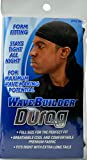 WAVE BUILDER Du-Rag with Extra Long Tails BLACK (Model: 192) by WaveBuilder