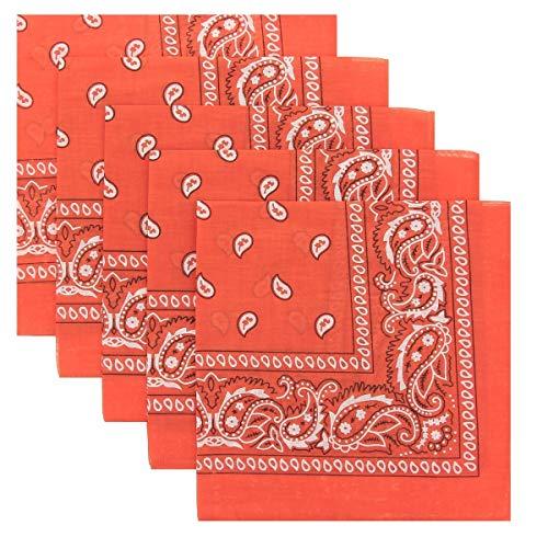 KARL LOVEN Molte bandane 100% Cotone Paisley Sciarpa Testa Collo Fazzoletti Lotto di 5/10/20