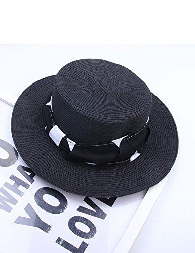 Chapeau de paille Chapeau d'été Chapeau Chapeau plat Chapeau Chapeau de plage Chapeau de soleil pliable ( Couleur : 5 ) 3