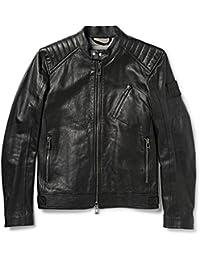 Chaquetas Hombres BELSTAFF 71020219 K Racer Blouson Black Cuero Negro Nueva Coll