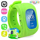 C-Xka Smart Watch, Kinder Smart Positioning Watch Card Kann Anti-verlorene GPS-Tracker Smart Armband Zwei-Wege-Anruf anrufen (Farbe : Green)