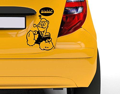 kleber Popeye Rot 30 x 47 cm uss308_a-30-045 Car-Tattoos Autotattoo Auto Tuning Car Styling Selbstklebend ()