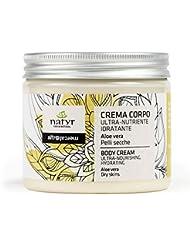 Körpercreme mit Aloe Vera und Kokosöl ✔ Für sehr trockene und rissige Haut ✔ mit Sheabutter und Kokosöl ✔ Italienische Naturkosmetik ✔ Natyr - Fair & Natural ✔ 200ml