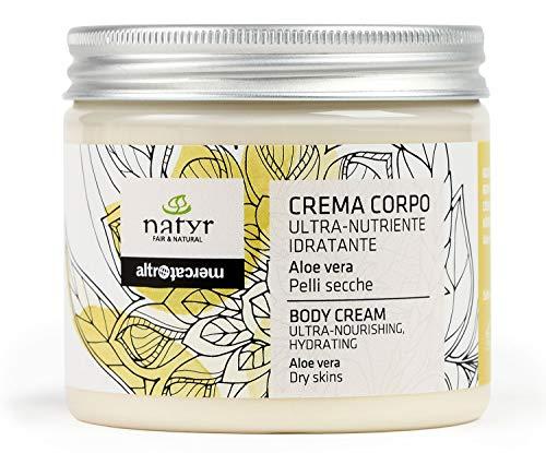 Natyr Körpercreme mit Aloe Vera, Sheabutter und Kokosöl gegen sehr trockene und rissige Haut 200 ml