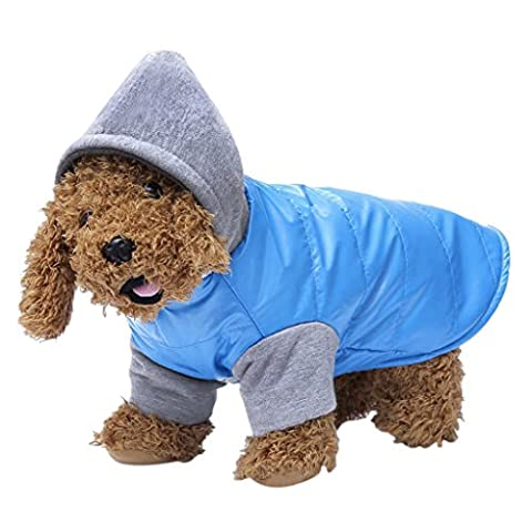 Winter Small Dog Hooded Jacket Fleece Lined Fashionable Warm Coat Pet Cat Sweatshirt Outfit Outwear Apperal Just for Tiny Puppy
