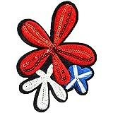 Outflower 12cm Correctifs de vêtements Correctifs de coudre Lot Applique Craft DIY Accessoires Fleur Rouge foncé, Tissu, rouge foncé, 9cm*12.5cm