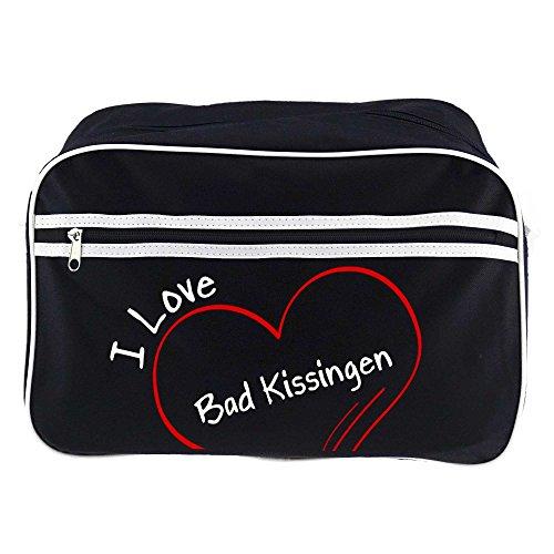 Preisvergleich Produktbild Retrotasche Modern I Love Bad Kissingen schwarz