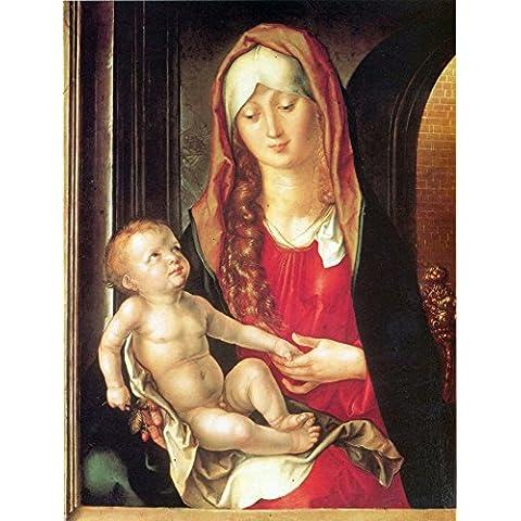 Il museo, la presa e un bambino di vergine archway by Durer-Stampa su tela bambino,