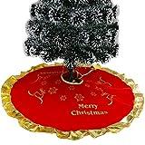 Mitlfuny Weihnachtsdekoration- 90cm SAMT Weihnachtsbaum Rock Weiß Schneeflocke Weihnachtsbaum Schleifen FüR Weihnachtsbaum Dekoration