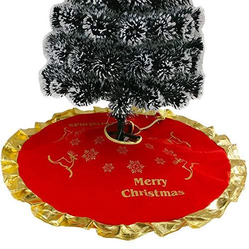 Mitlfuny Weihnachtsdekoration- 90cm SAMT Weihnachtsbaum Rock Weiß Schneeflocke Weihnachtsbaum Schleifen FüR Weihnachtsbaum Dekoration (Dekorationen Schneeflocke Schnur)