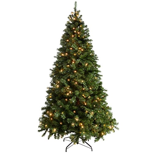 werchristmas-pre-lit-spruce-multi-function-christmas-tree-21-m-7-feet-with-300-led-lights-green