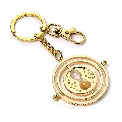 Harry Potter Keychain Time Turner silver plated Carat