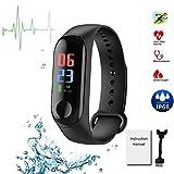 Fitness Tracker 0.96 pollici schermo intelligente Wristband impermeabile...