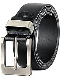 VICSPORT Cintura Uomini perno della cinghia di cuoio fibbia antik cinghia casuale