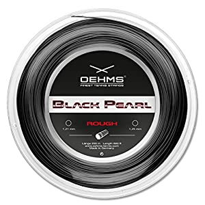 Oehms Black Pearl Rough | 200m-Rolle | Ø 1,21/1,23/1,25 mm | monofile Co-Polyester Tennissaite