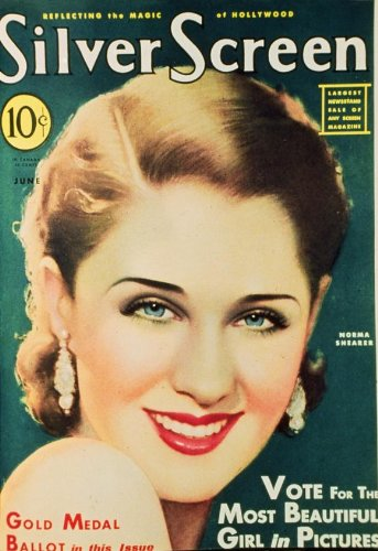 Norma Shearer Plakat Movie Poster (27 x 40 Inches - 69cm x 102cm) Silver Screen Magazine Cover 1930's